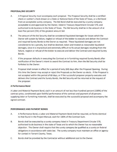 sample security bid proposal