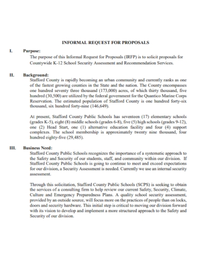 school security assessment proposal