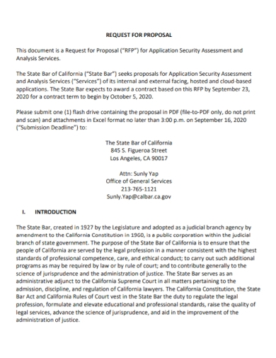 security assessment analysis proposal