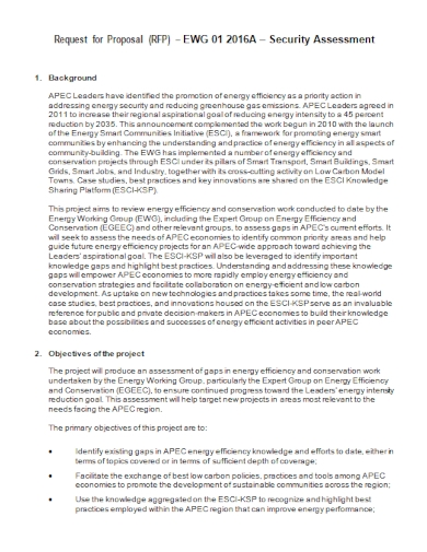 security assessment project proposal