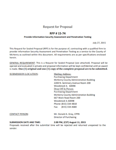security assessment request for proposal