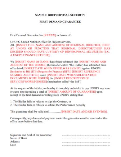 security bid proposal