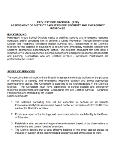 security emergency assessment proposal