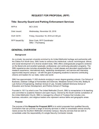 security guard enforcement services proposal