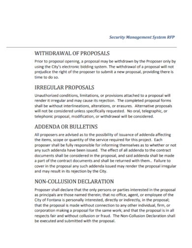 security management system proposal
