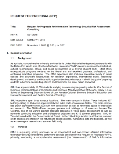 security risk assessment proposal
