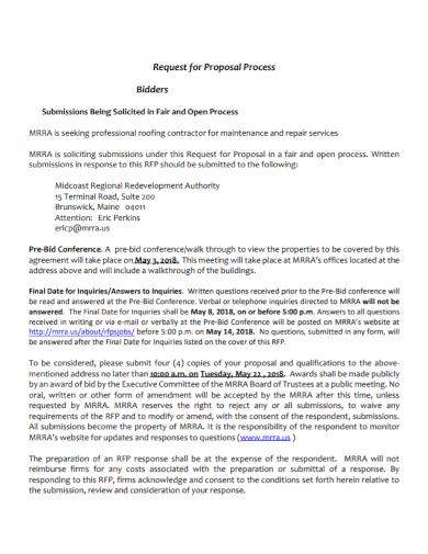solicited bidder request for proposal