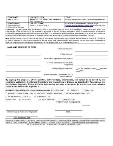 solicited request for proposal