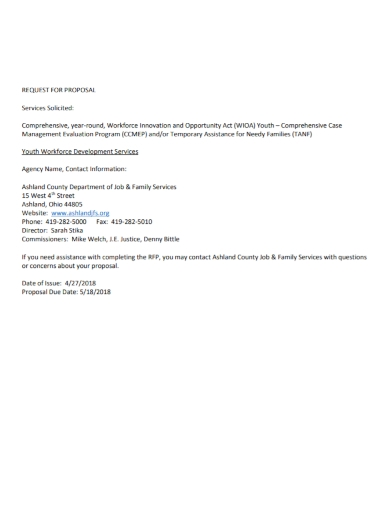 solicited services request for proposal