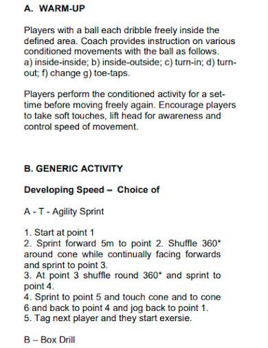 sports coaching action plan