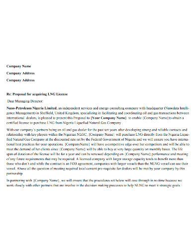standard business partnership proposal