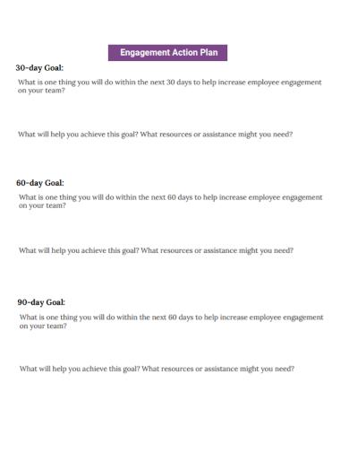 standard engagement action plan