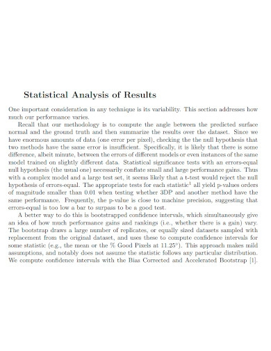 statistical results analysis