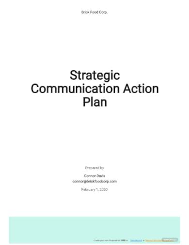 strategic communication action plan template