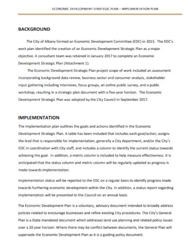 strategic economic implementation plan