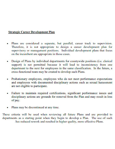 strategic employee career development plan