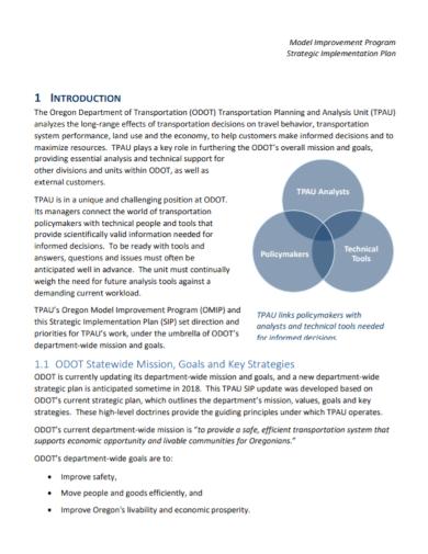 strategic improvement implementation plan