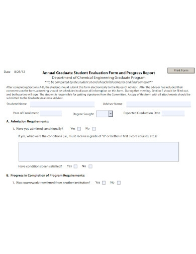 student annual evaluation form