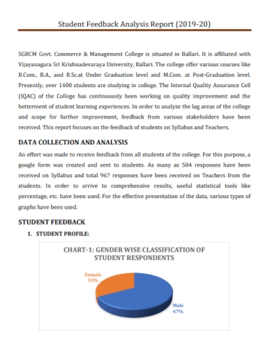 student data collection analysis report