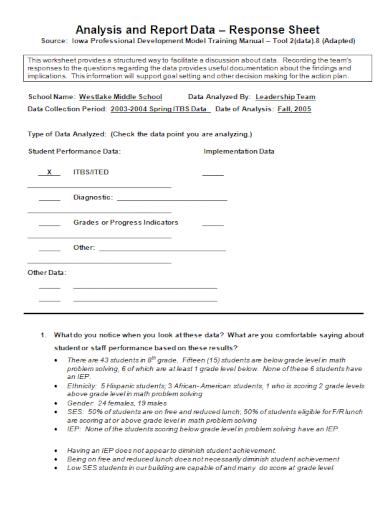 student performance data analysis report