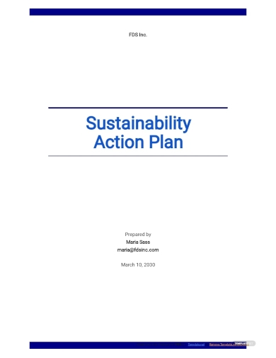sustainability action plan template