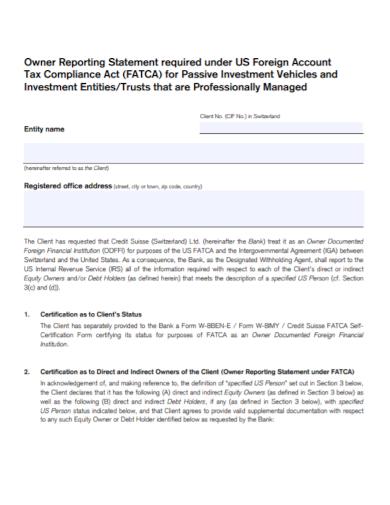 tax account compliance statement