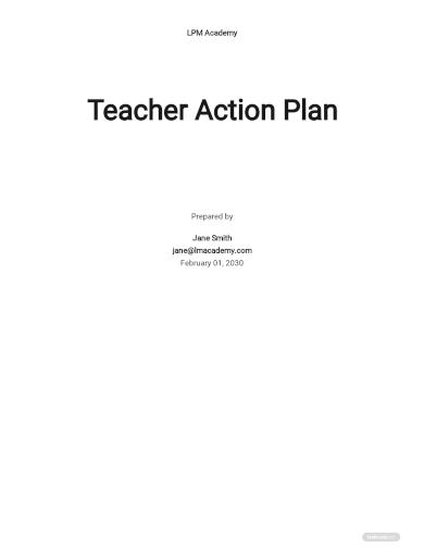 teacher action plan template