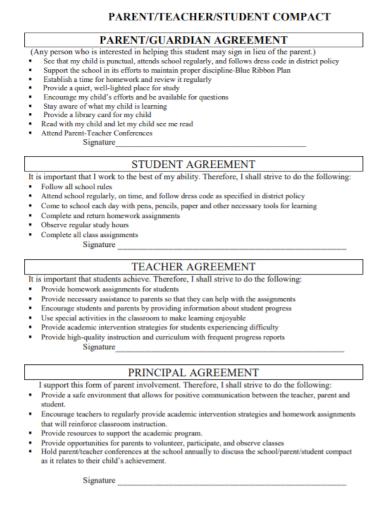 teacher student guardian agreement