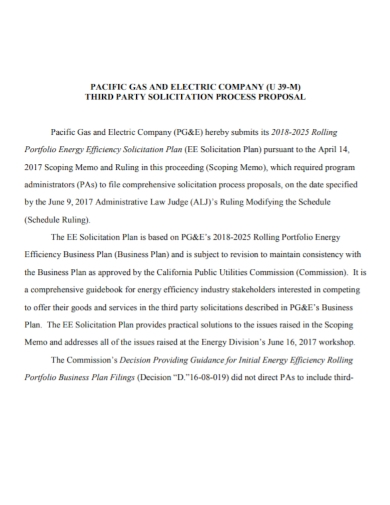 third party solicitation proposal