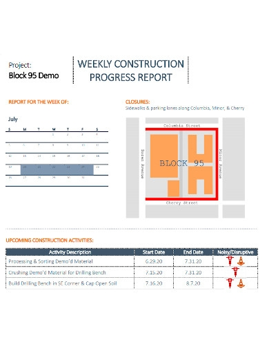 weekly construction progress reports