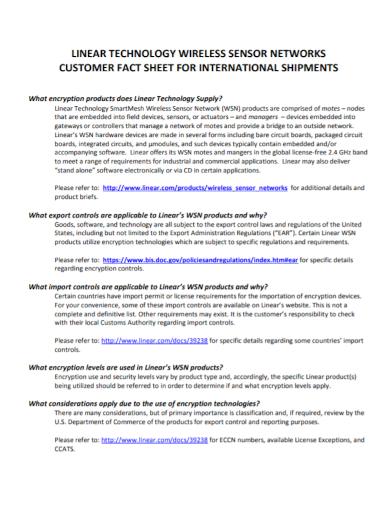 wireless technology customer fact sheet