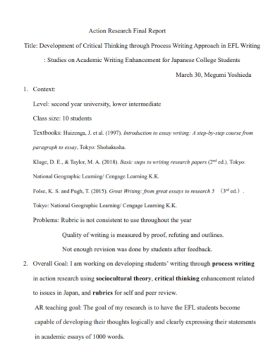 action research final report