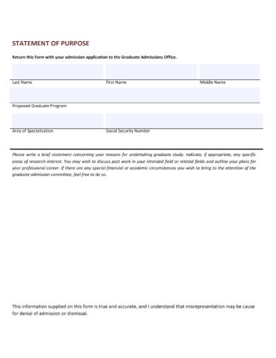 admission office statement of purpose