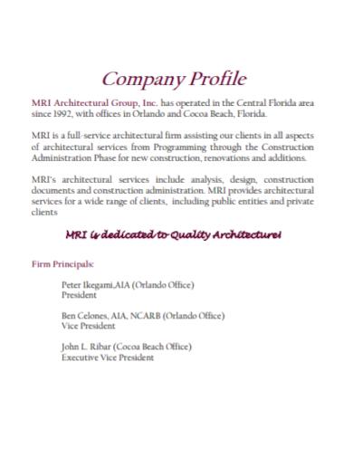 architectural group company profile