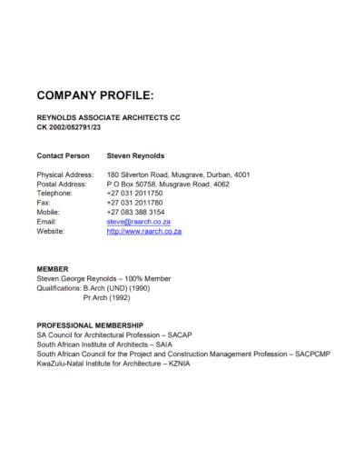 architecture associate company profile