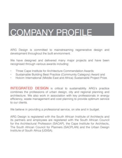 architecture design company profile
