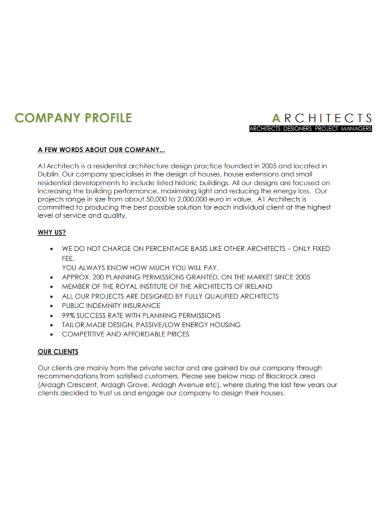 architecture project company profile