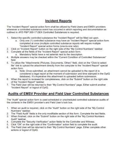 audit controller incident report