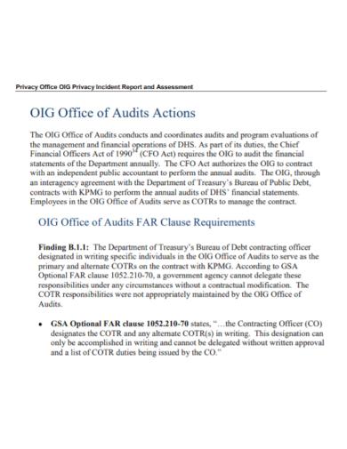 audit office incident report