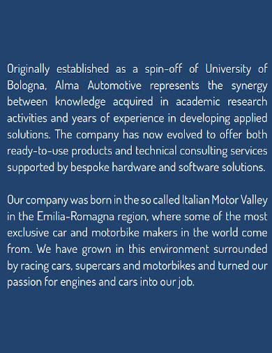 automotive company profile format