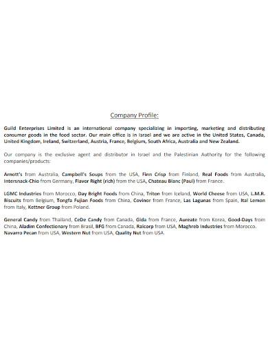 basic food company profile