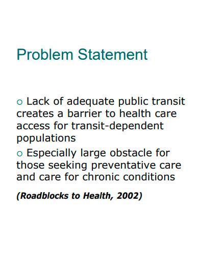 basic health problem statement