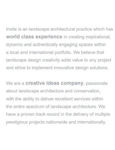 basic landscape company profile
