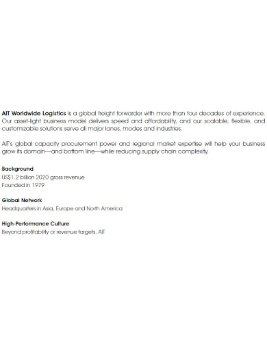 basic logistics company profile