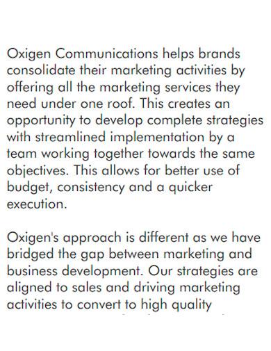 basic marketing company profile