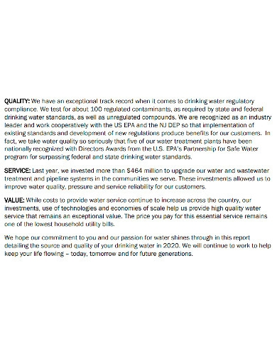 basic water quality report