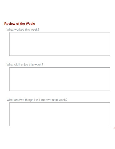 basic weekly action plan