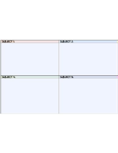 basic weekly study schedule