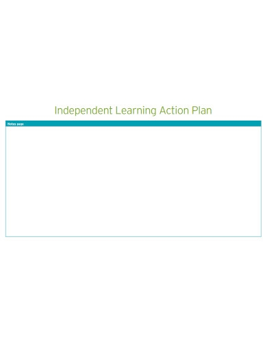 blank learning action plan