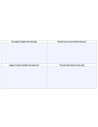 blank swot analysis worksheet sample